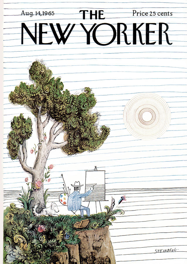 New Yorker August 14th, 1965 Painting by Saul Steinberg