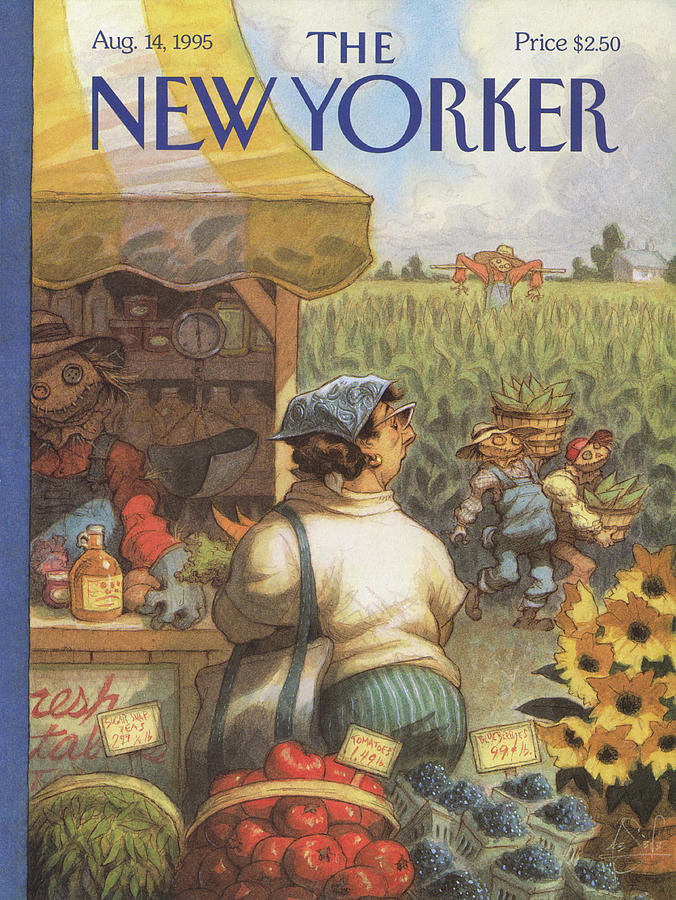 New Yorker August 14th, 1995 Painting by Peter de Seve