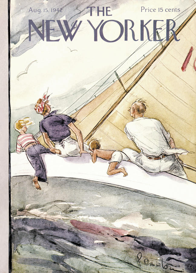 New Yorker August 15, 1942 Painting by Perry Barlow
