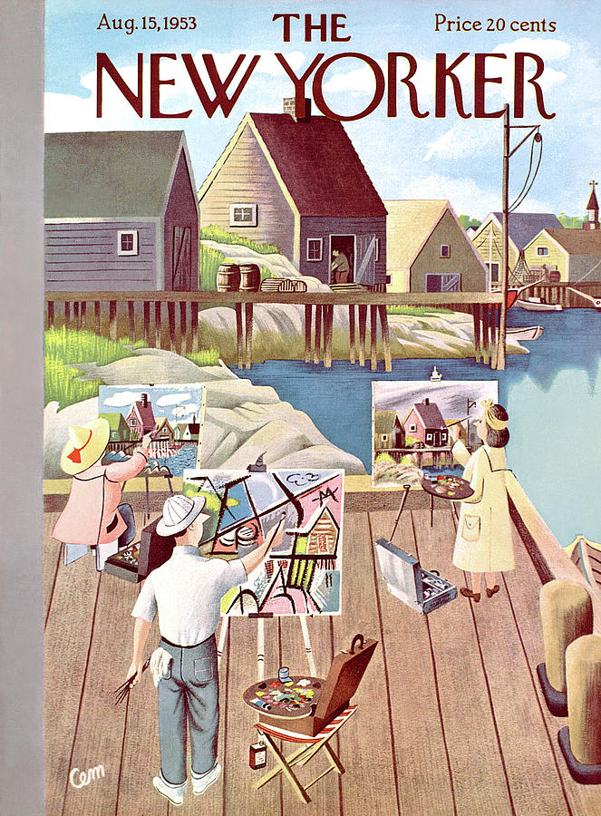 New Yorker August 15th, 1953 Painting by Charles E Martin