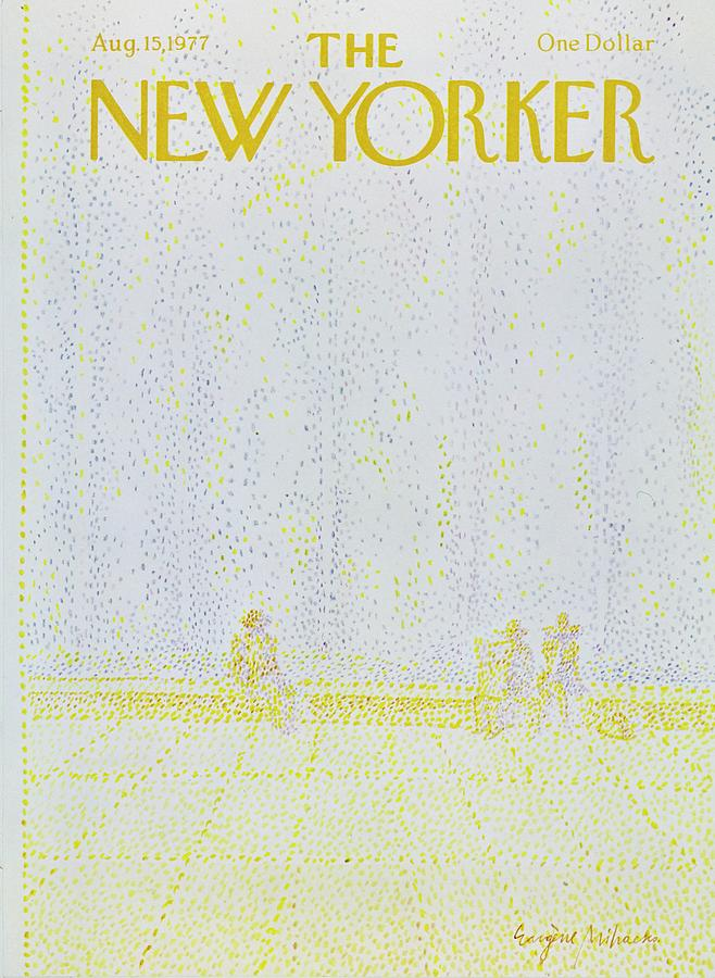 Illustration Painting - New Yorker August 15th 1977 by Eugene Mihaesco