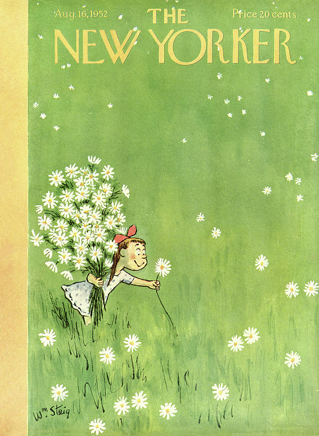 New Yorker August 16th, 1952 Painting by William Steig
