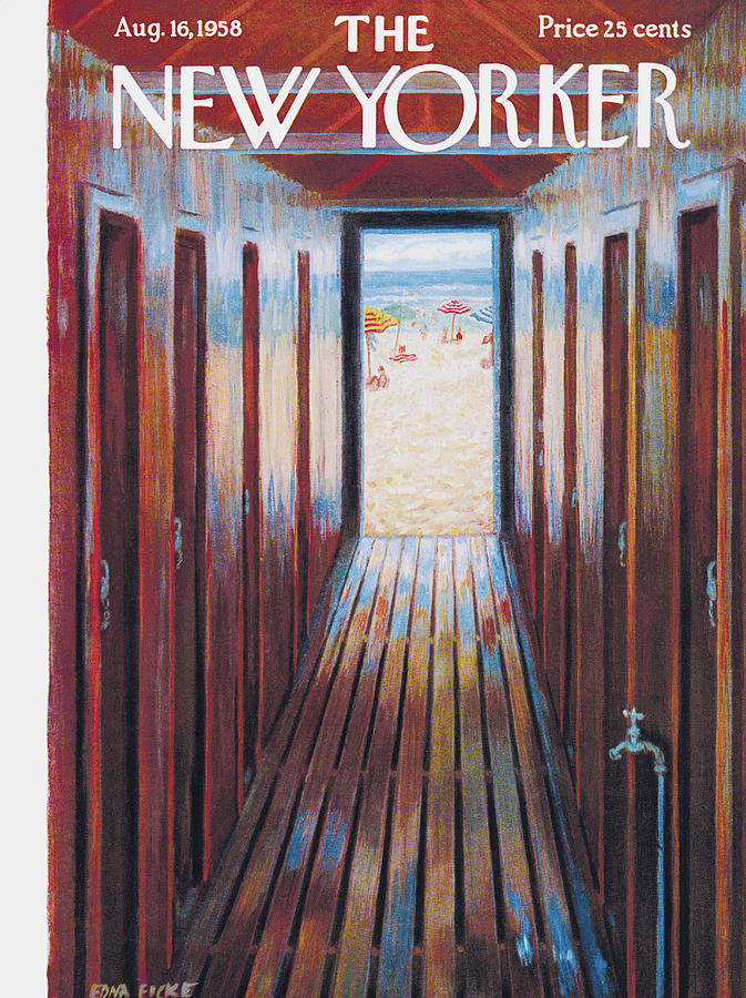 New Yorker August 16th, 1958 Painting by Edna Eicke