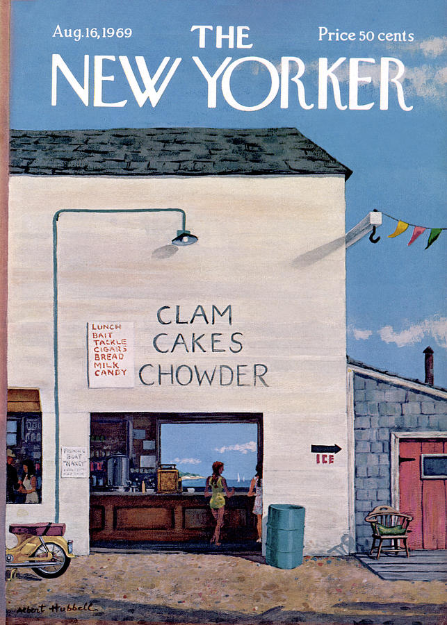New Yorker August 16th, 1969 Painting by Albert Hubbell