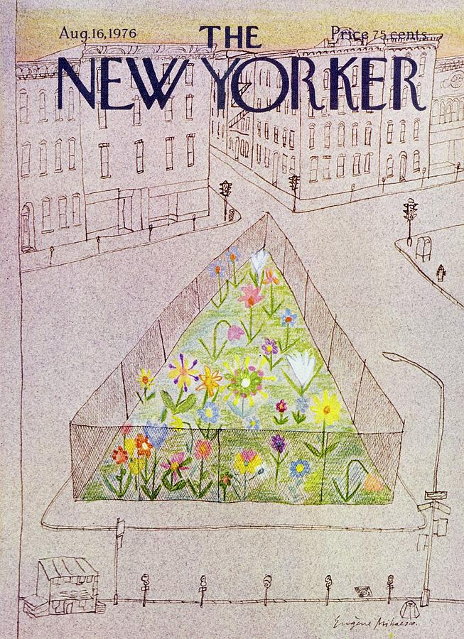 New Yorker August 16th 1976 Painting by Eugene Mihaesco