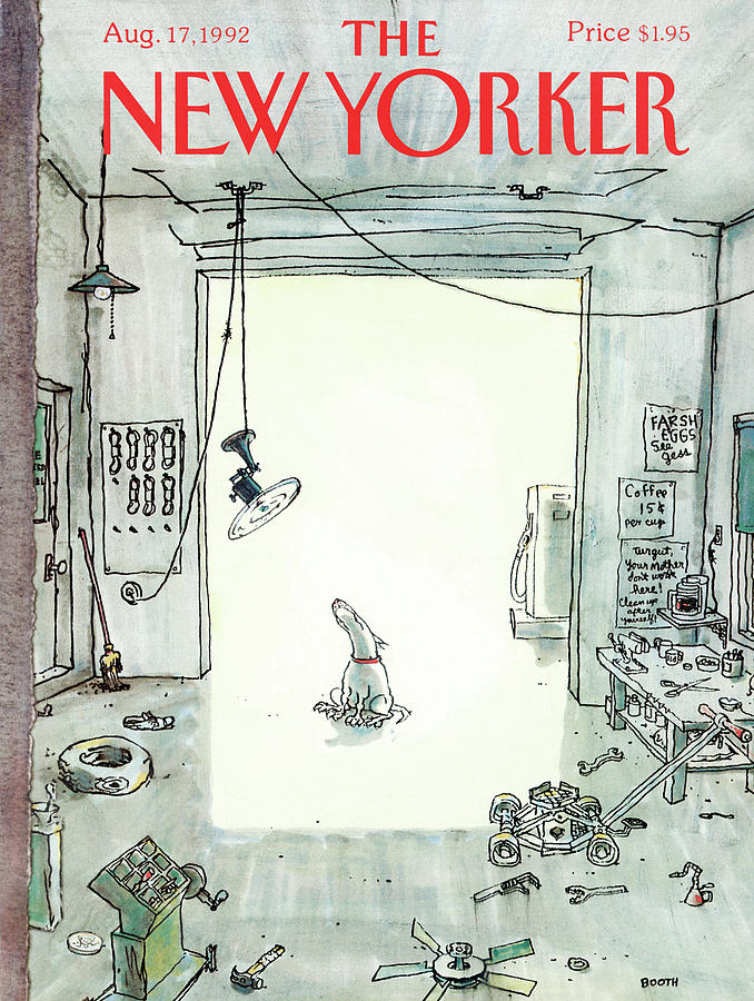 New Yorker August 17, 1992 Painting by George Booth