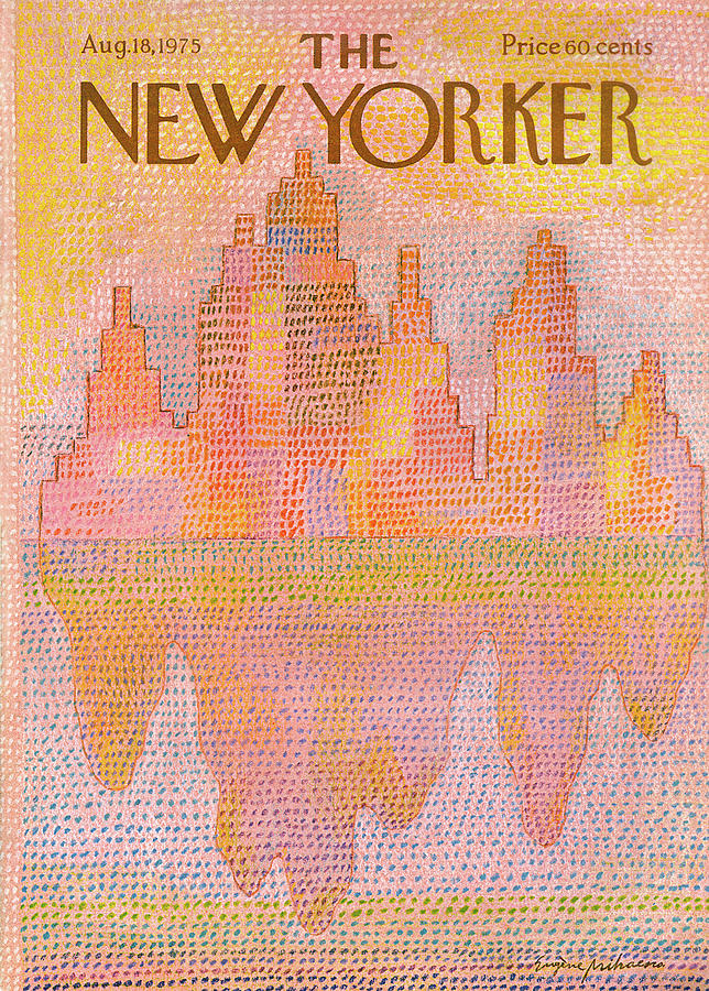 New Yorker August 18th, 1975 Painting by Eugene Mihaesco