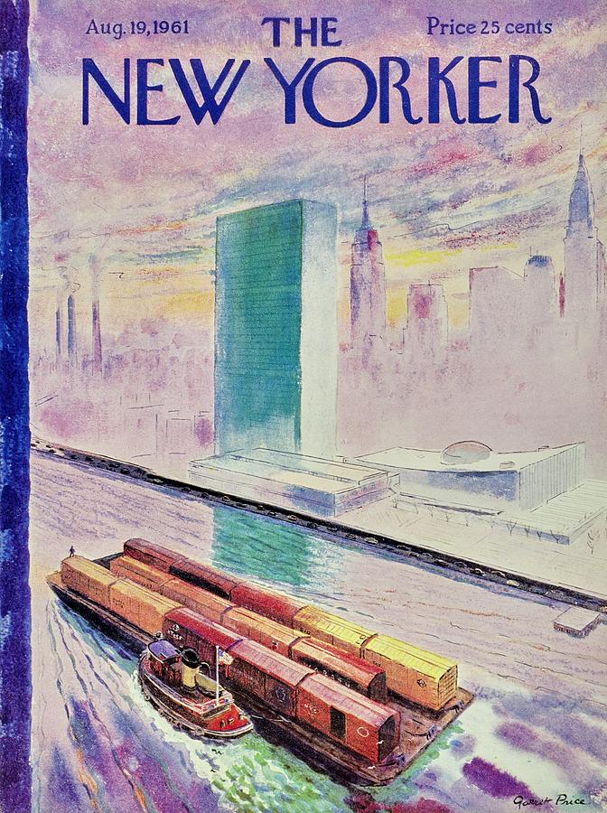 New Yorker August 19th 1961 Painting by Garrett Price