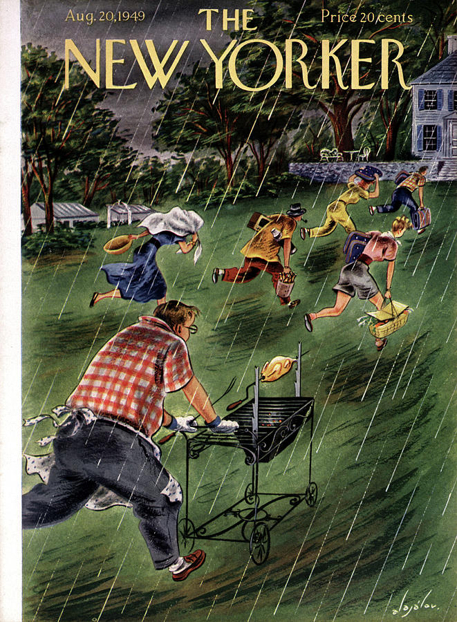 New Yorker August 20th, 1949 Painting by Constantin Alajalov