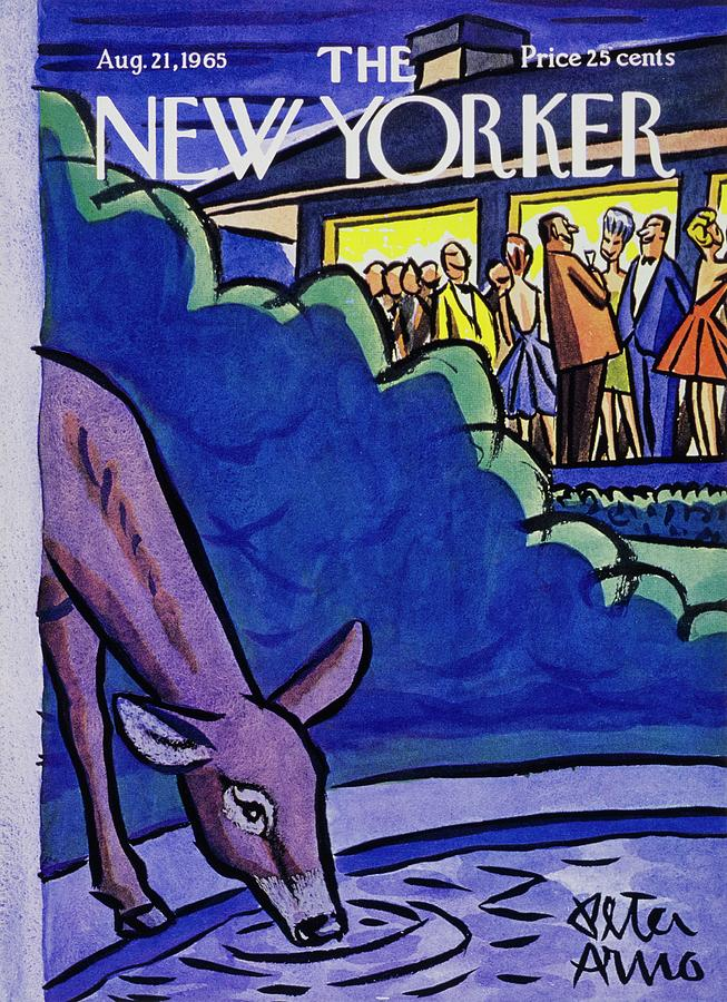 New Yorker August 21st 1965 Painting by Peter Arno