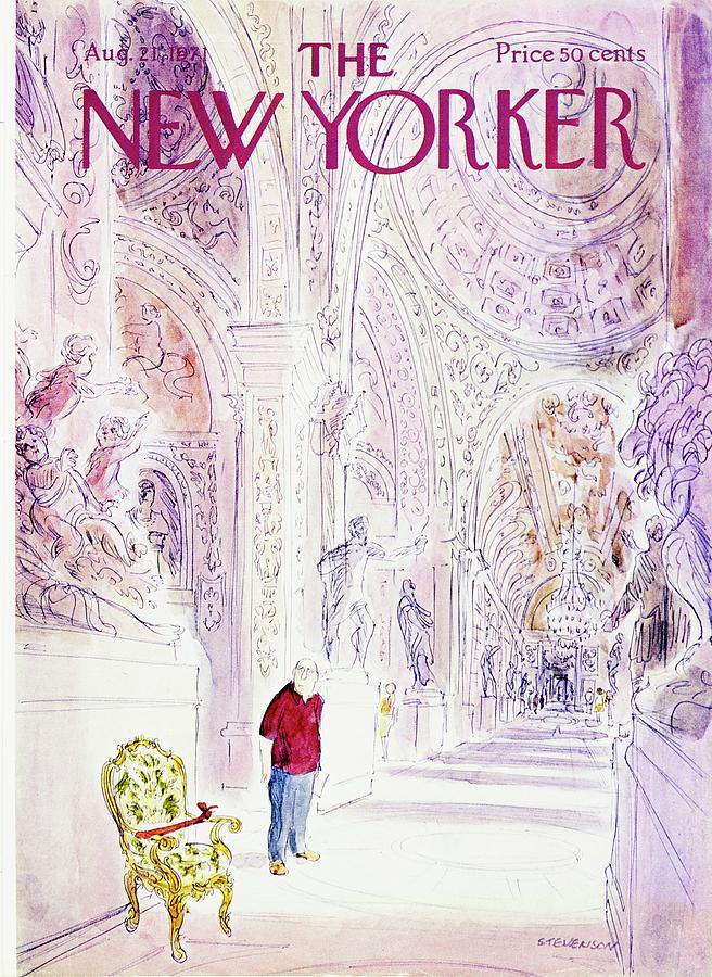 New Yorker August 21st 1971 Painting by James Stevenson