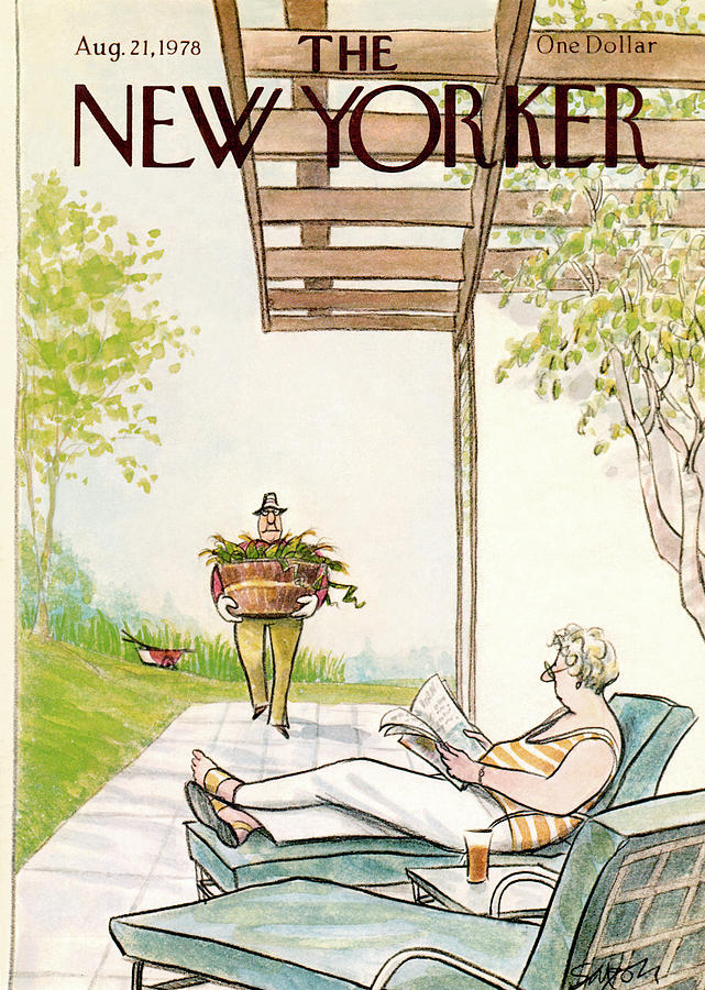 New Yorker August 21st, 1978 Painting by Charles Saxon