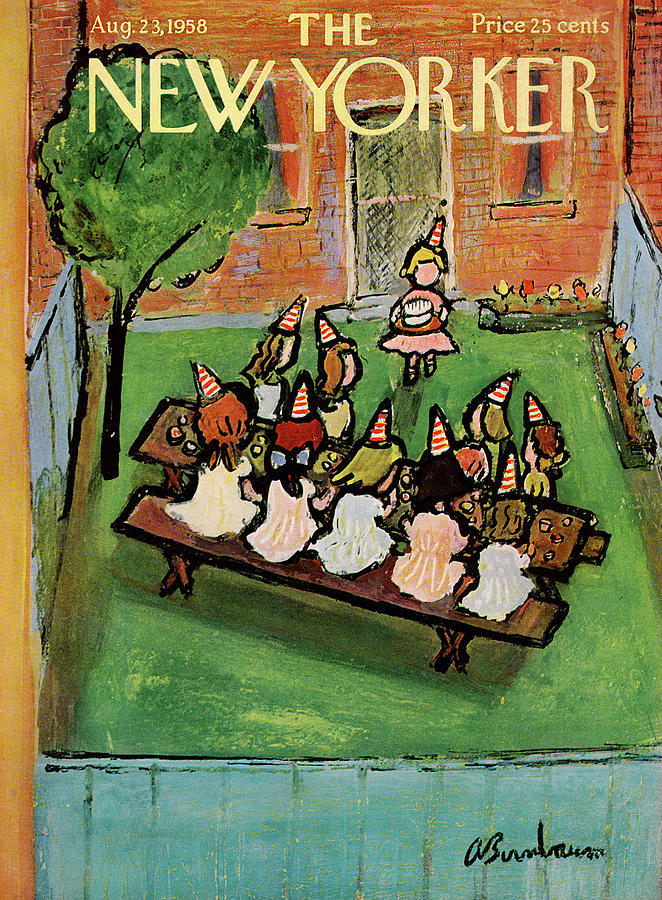New Yorker August 23rd, 1958 Painting by Abe Birnbaum