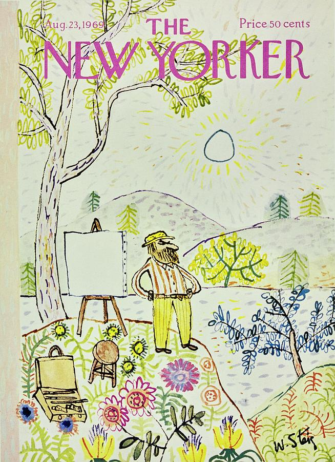 New Yorker August 23rd 1969 Painting by William Steig