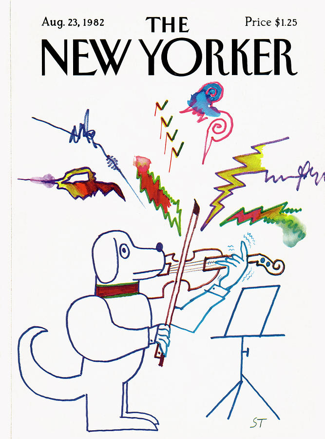 New Yorker August 23rd, 1982 Painting by Saul Steinberg