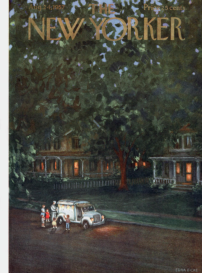 New Yorker August 24th, 1957 Painting by Edna Eicke