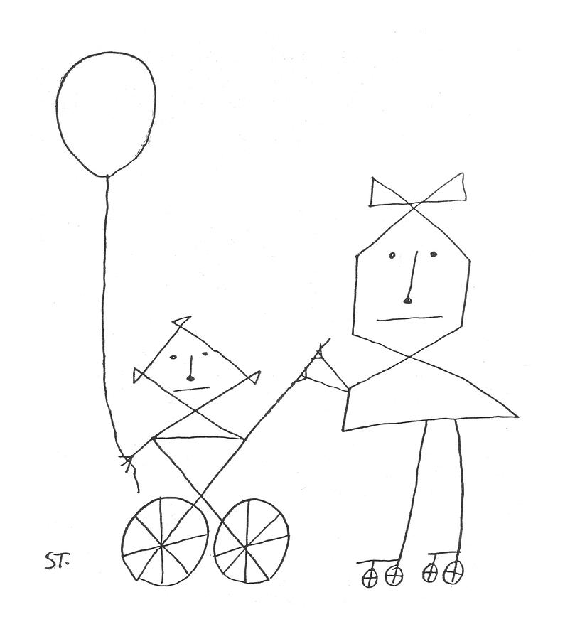 New Yorker August 24th, 1957 Drawing by Saul Steinberg