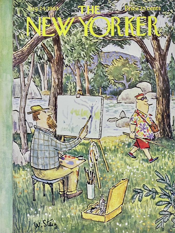 New Yorker August 24th 1963 Painting by William Steig