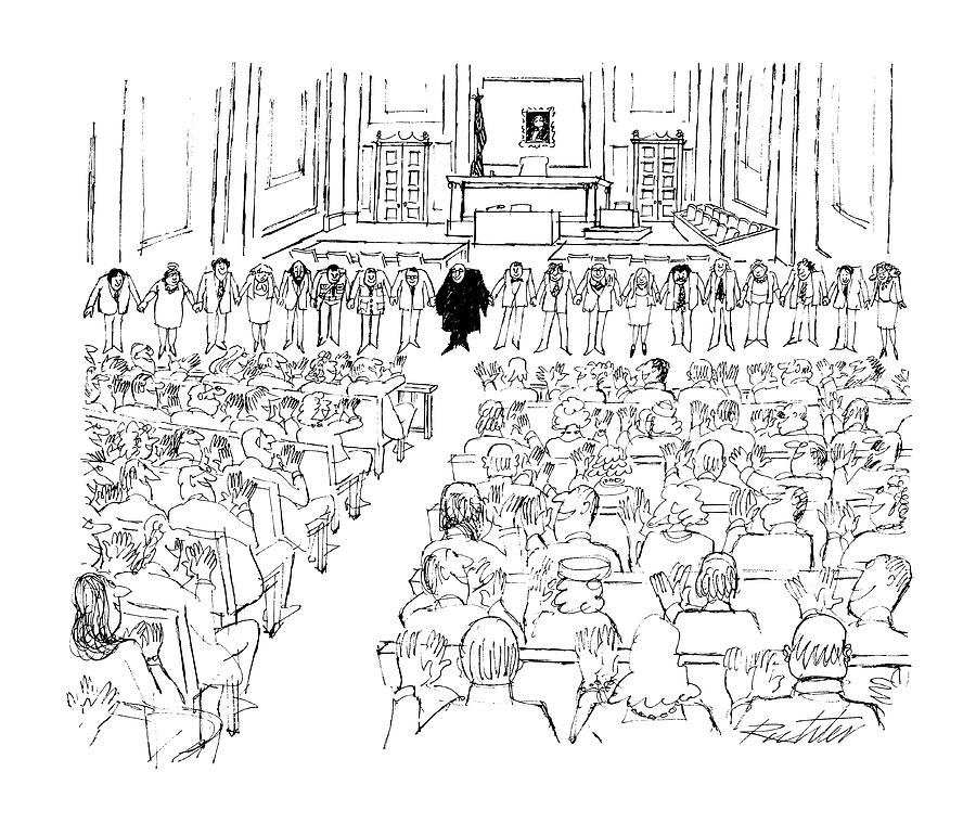 New Yorker August 24th, 1987 Drawing by Mischa Richter
