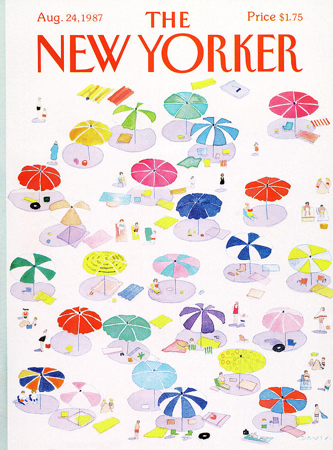 New Yorker August 24th, 1987 Painting by Susan Davis