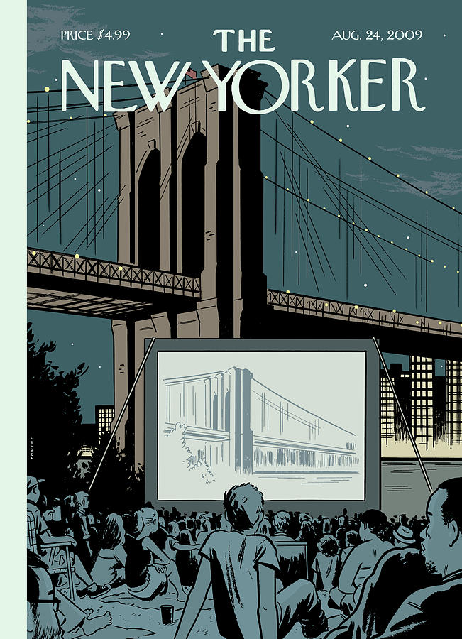 Double Feature Painting by Adrian Tomine