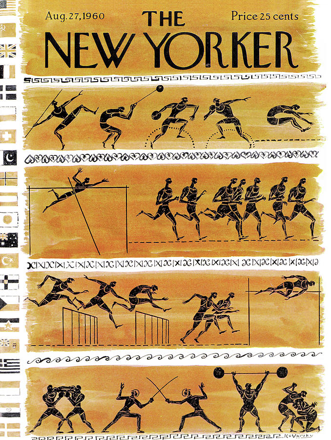 New Yorker August 27th, 1960 Painting by Anatol Kovarsky