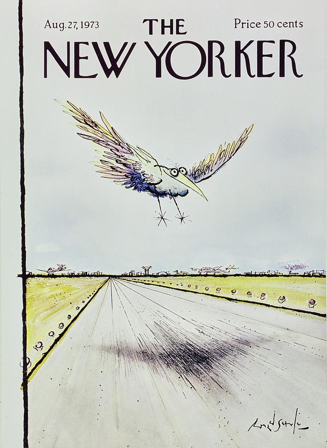 New Yorker August 27th 1973 Painting by Ronald Searle