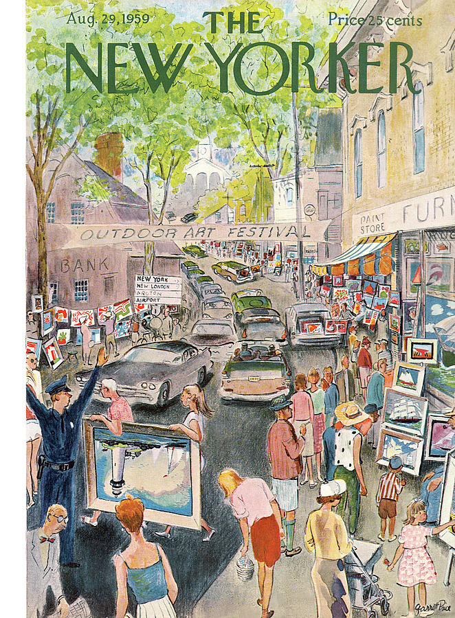 New Yorker August 29th, 1959 Painting by Garrett Price