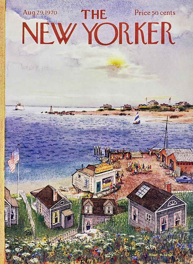 New Yorker August 29th 1970 Painting by Albert Hubbell