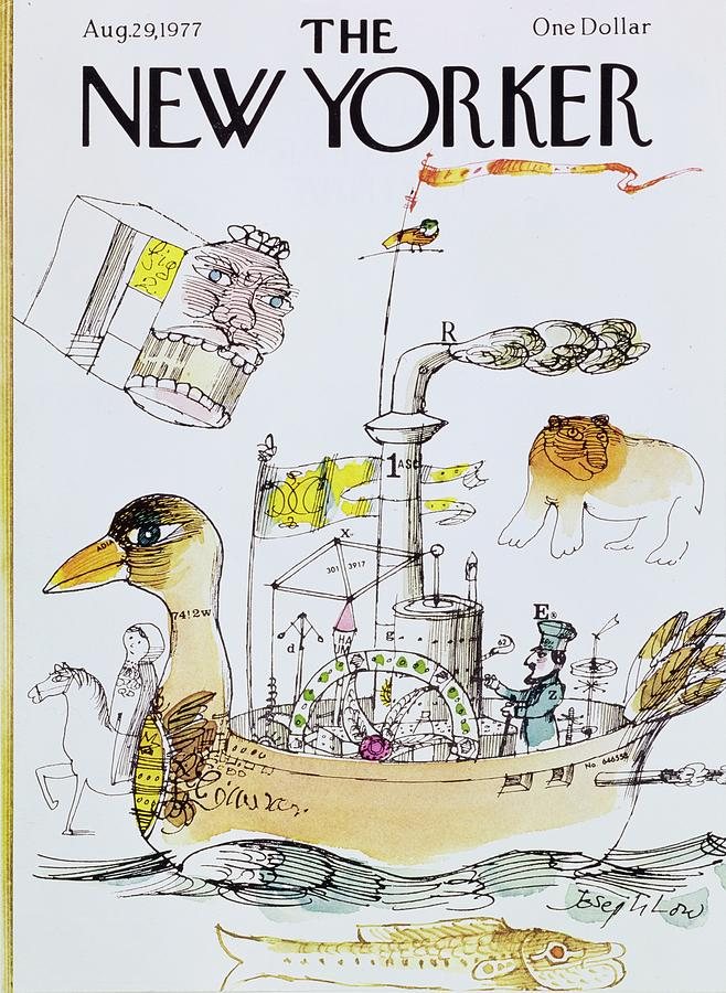 New Yorker August 29th 1977 Painting by Joseph Low