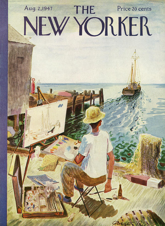 New Yorker August 2nd, 1947 Painting by Garrett Price