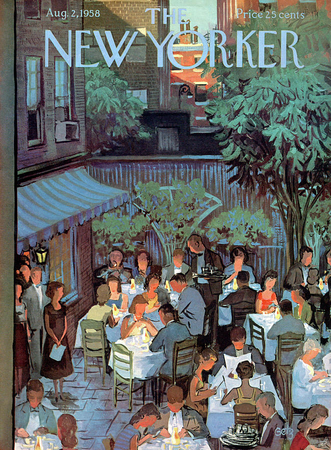 Food Painting - New Yorker August 2nd, 1958 by Arthur Getz