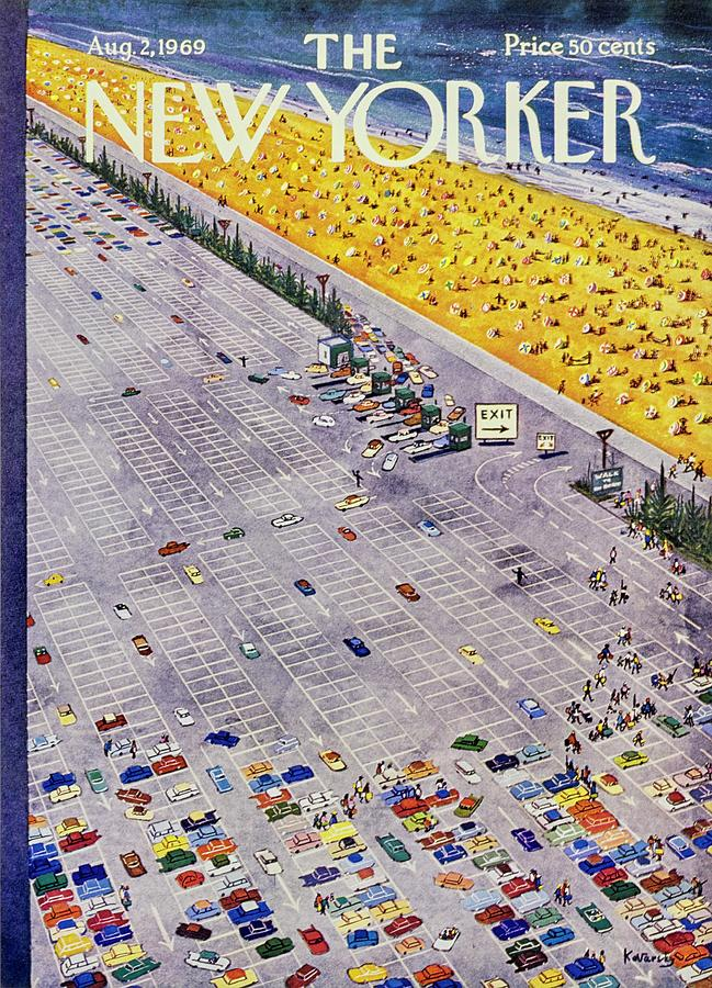 New Yorker August 2nd 1969 Painting by Anatole Kovarsky