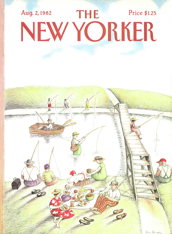 New Yorker August 2nd, 1982 Painting by Anne Burgess