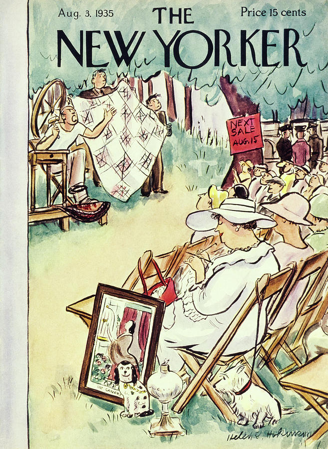 New Yorker August 3 1935 Painting by Helene E Hokinson