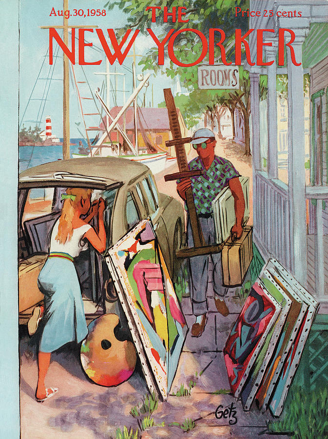 New Yorker August 30th, 1958 Painting by Arthur Getz