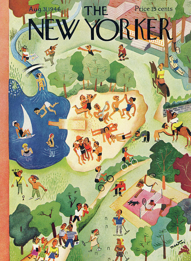 New Yorker August 31, 1946 Painting by Charles E Martin