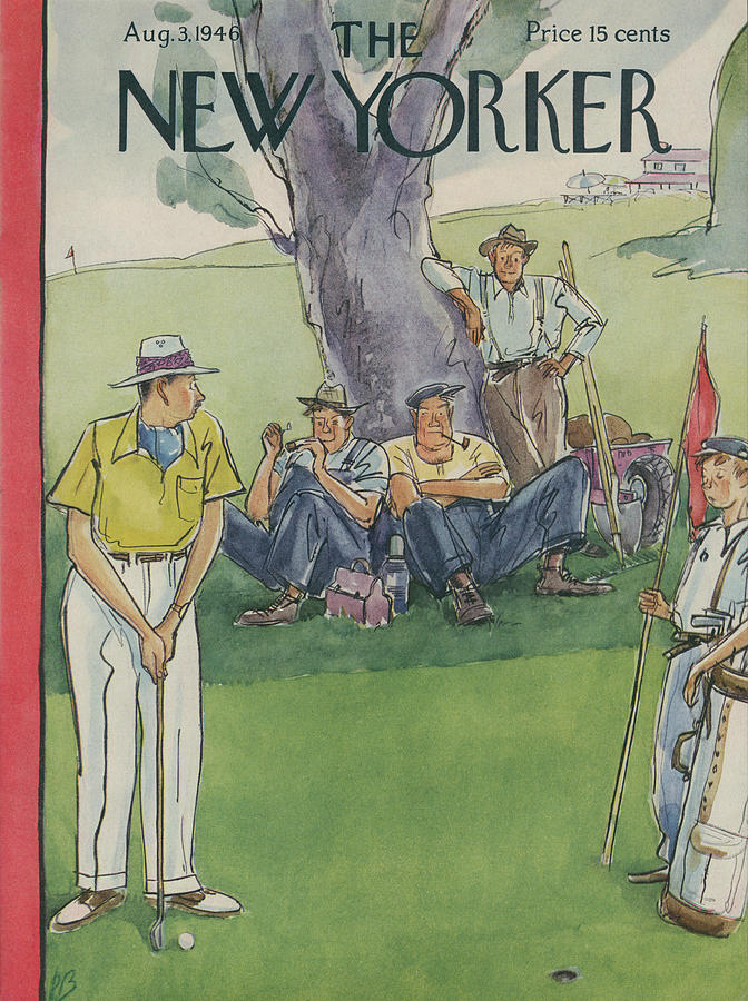 New Yorker August 3, 1946 Painting by Perry Barlow
