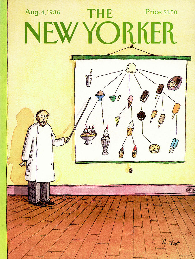 New Yorker August 4th, 1986 Painting by Roz Chast