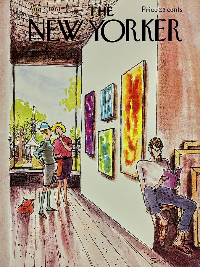 New Yorker August 5th 1961 Painting by Charles D Saxon
