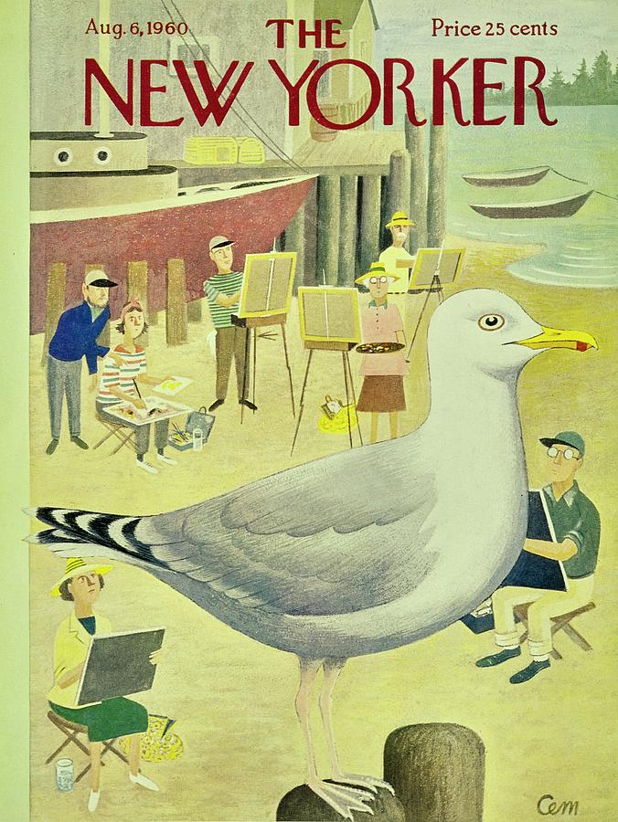 New Yorker August 6th 1960 Painting by Charles E Martin
