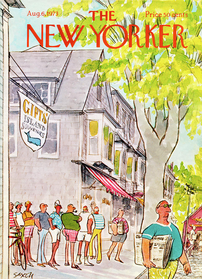 New Yorker August 6th, 1973 Painting by Charles Saxon