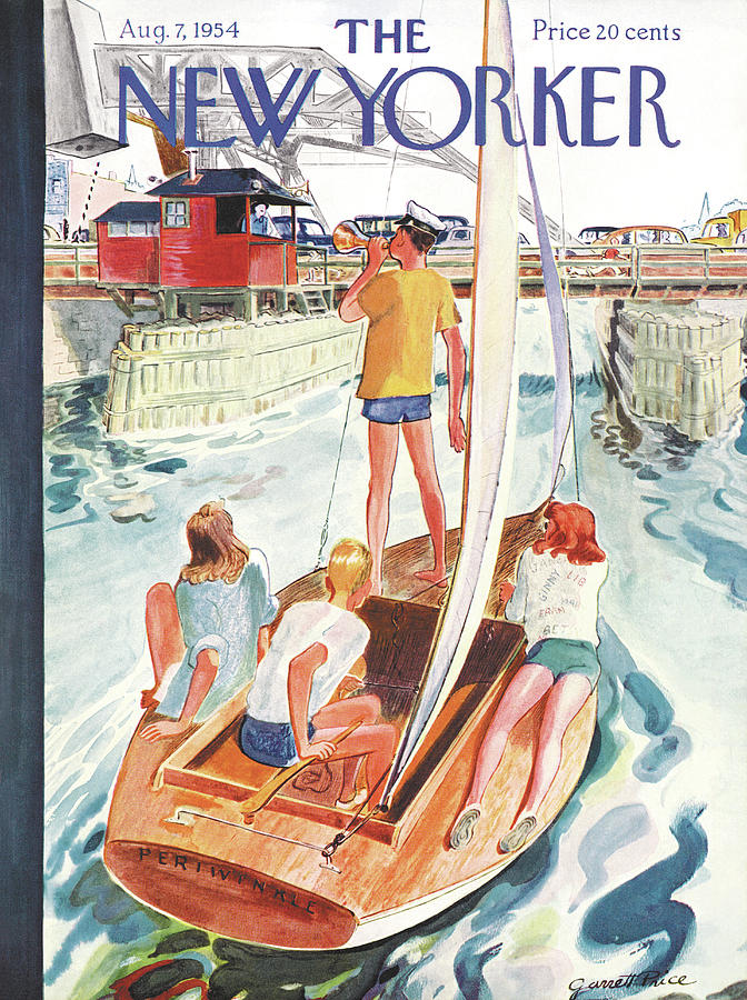 New Yorker August 7th, 1954 Painting by Garrett Price