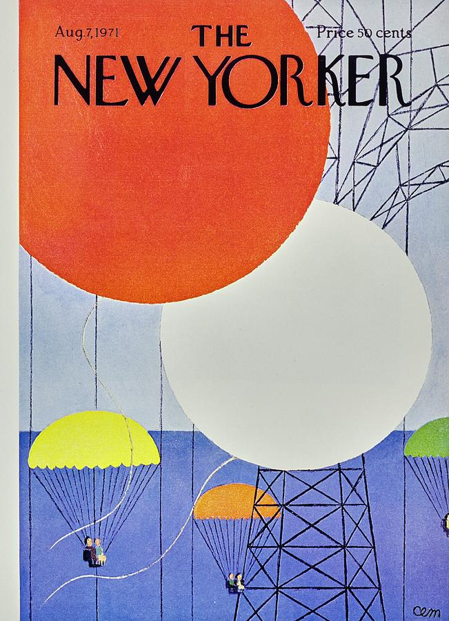 New Yorker August 7th 1971 Painting by Charles Martin