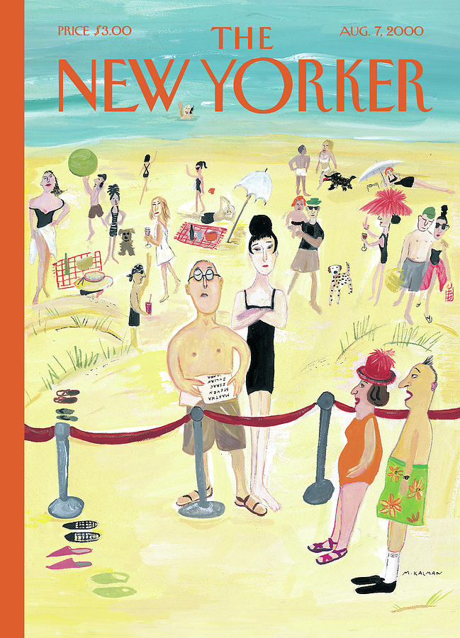 New Yorker August 7th, 2000 Painting by Maira Kalman