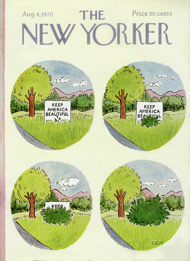 New Yorker August 8th, 1970 Painting by Charles E Martin