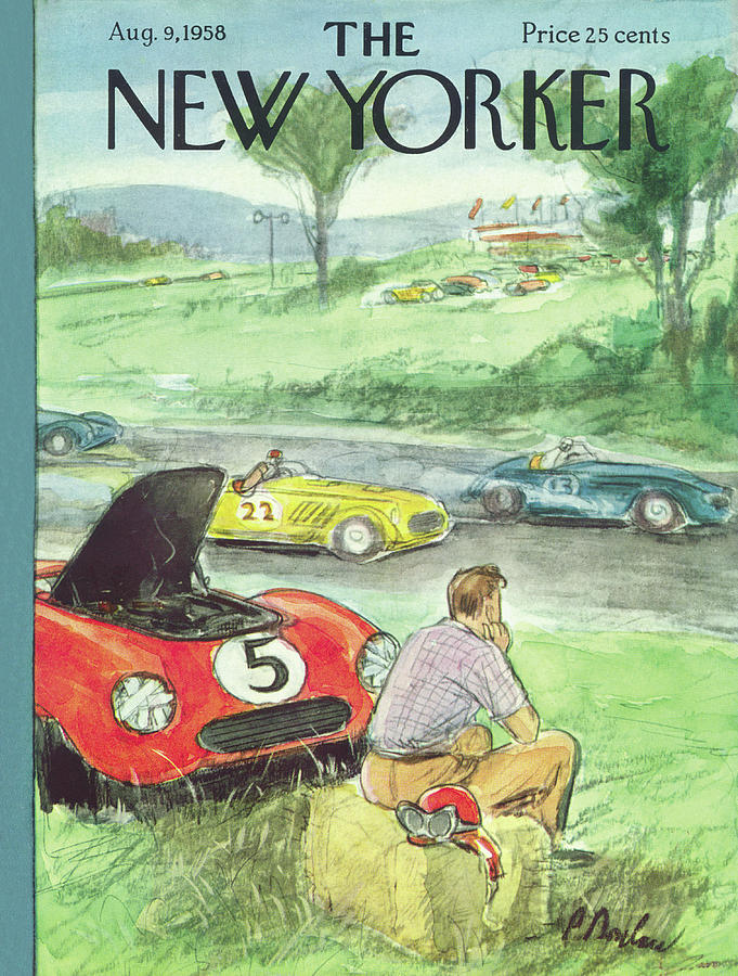 New Yorker August 9th, 1958 Painting by Perry Barlow