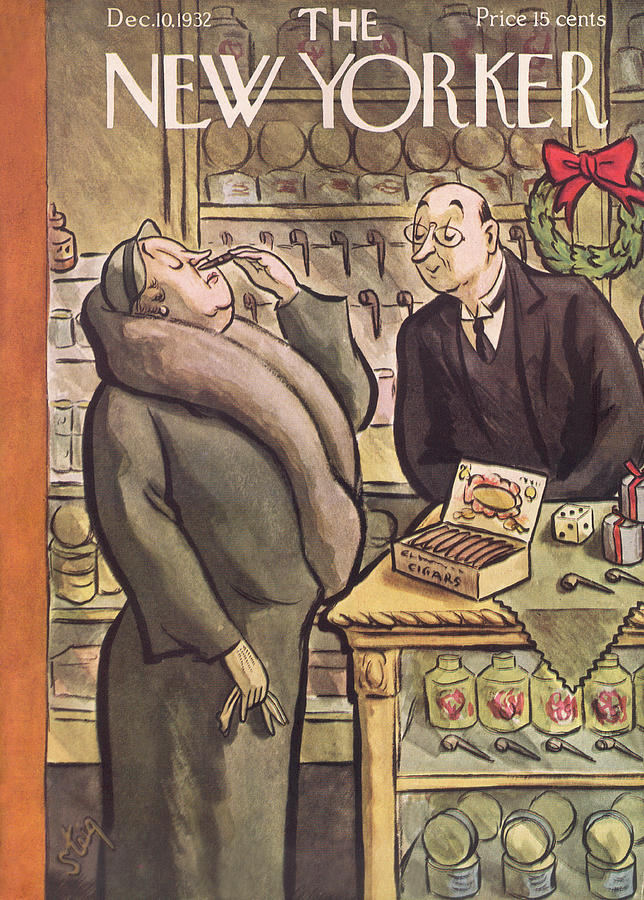 New Yorker December 10th, 1932 Painting by William Steig