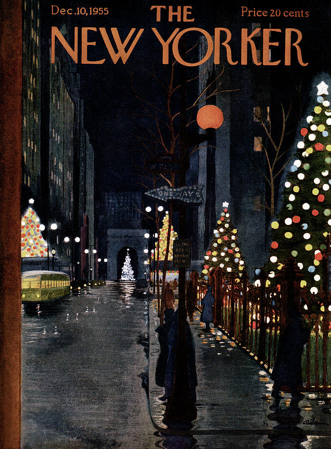 New Yorker December 10th, 1955 Painting by Alain
