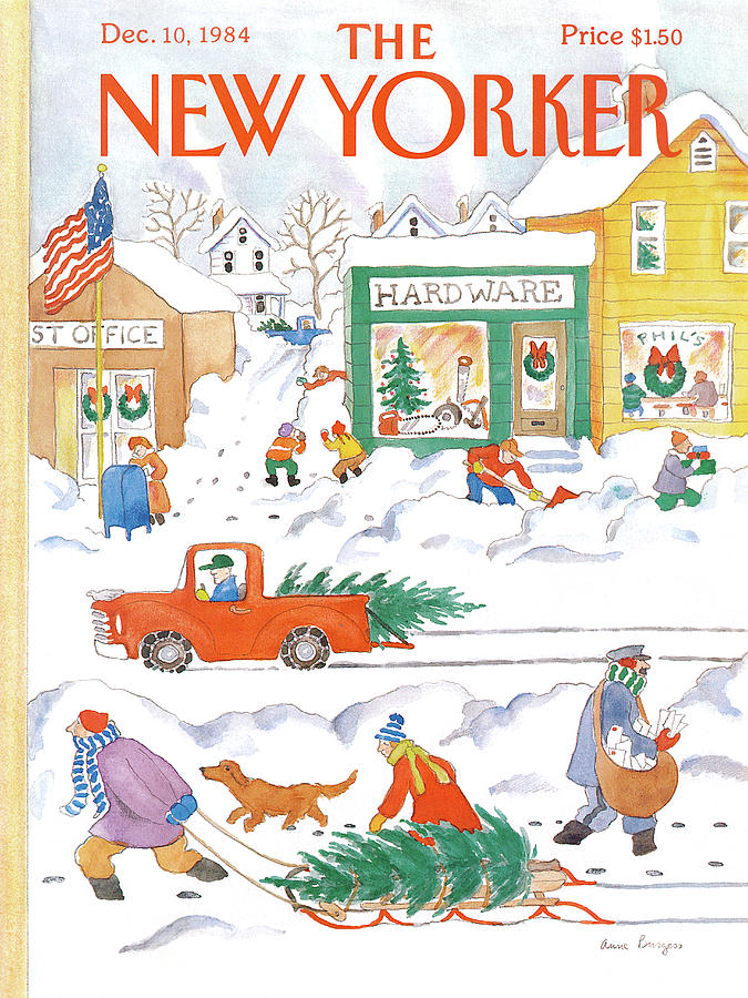 New Yorker December 10th, 1984 Painting by Anne Burgess